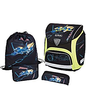 Школьный ранец Herlitz Sporti Plus Spaceshuttle с наполнением 4 предмета