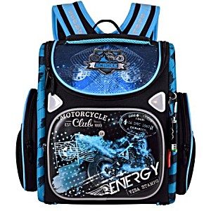 Ранец для первоклассника Across 197-3 Мото с мешком для обуви